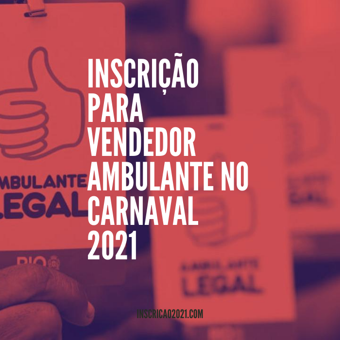 Vendedor Ambulante no Carnaval 2021