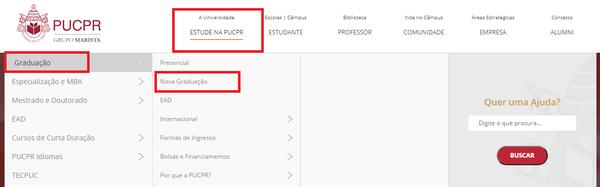 Como fazer a inscrição PUCPR online