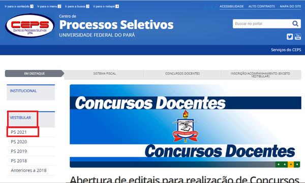 Como fazer a inscrição UFPA Universidade Federal do Pará