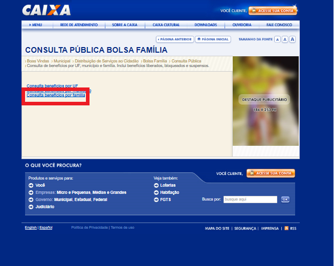 Consulta Bolsa Família