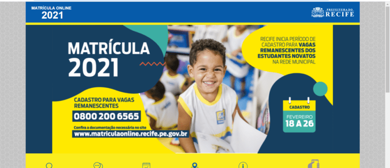 Matrícula Recife 2022: Como fazer a sua?