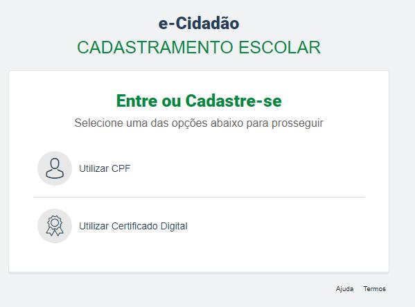Matrícula Curitiba 2022: Inscrição