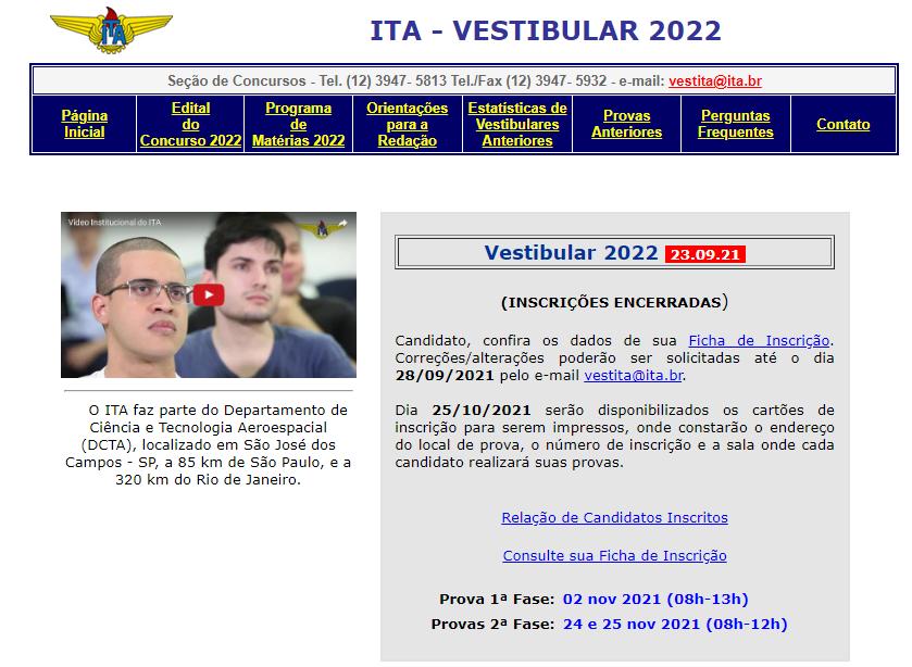 Inscrição ITA 2022: como funciona?